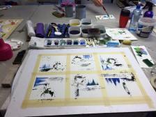 Serie målning, Akvarell